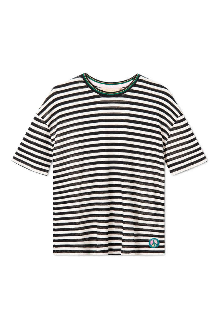 Koszulka Damska Femi Mandi (Black White Stripes)