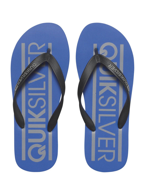 Japonki Męskie Quiksilver Java Wordmark (Black Blue Blue)