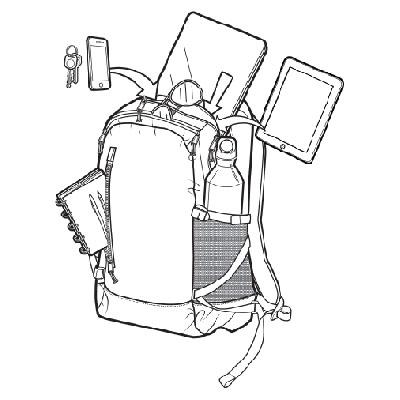 Plecak Burton Prospect Pack (Flame Triple Ripstop) W16