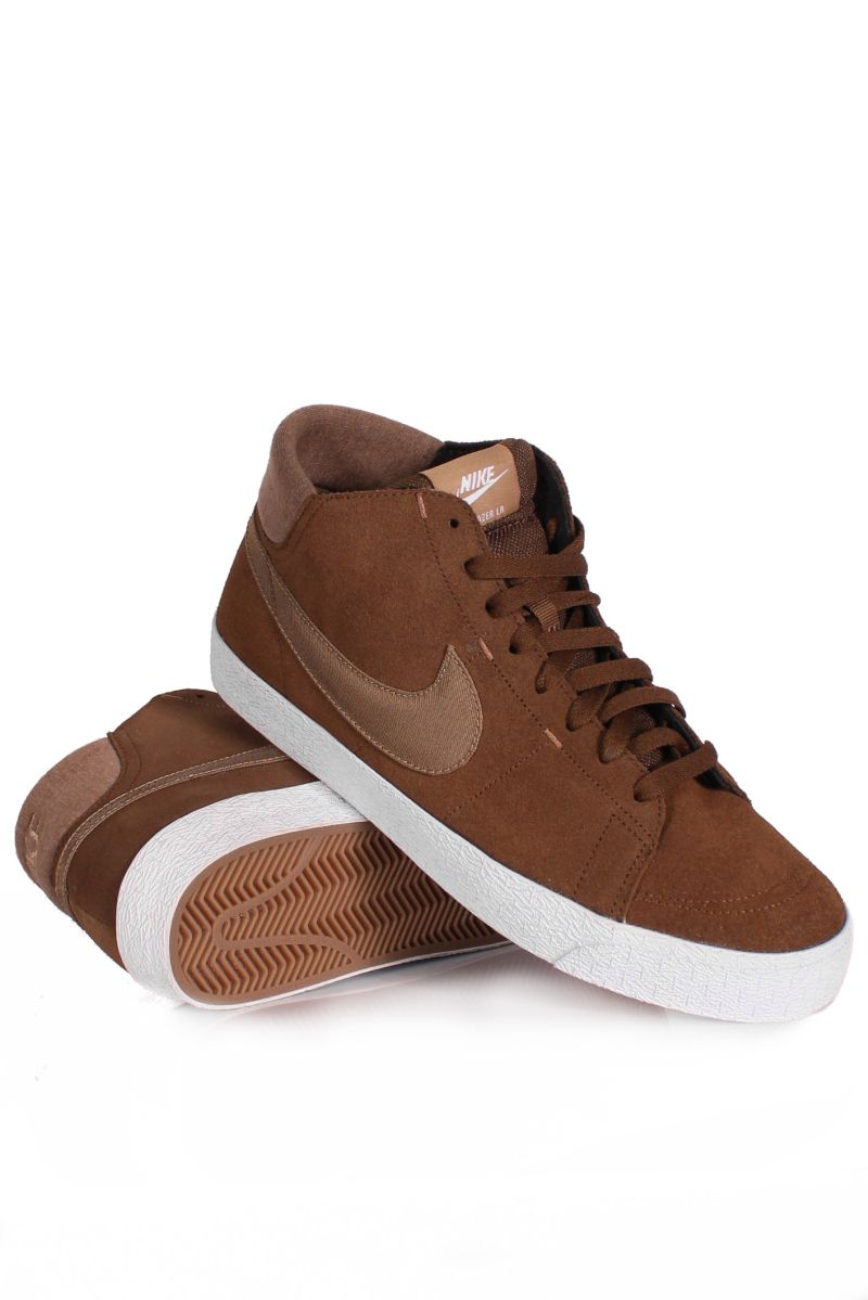 Buty Nike Sb Blazer Mid Lr (Dark Khaki/ Flbrt White)