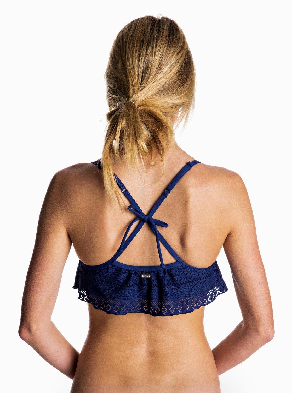 Góra Od Bikini Roxy Drop Diamond Flutter Bikini Top (Blue Depths) Ss17