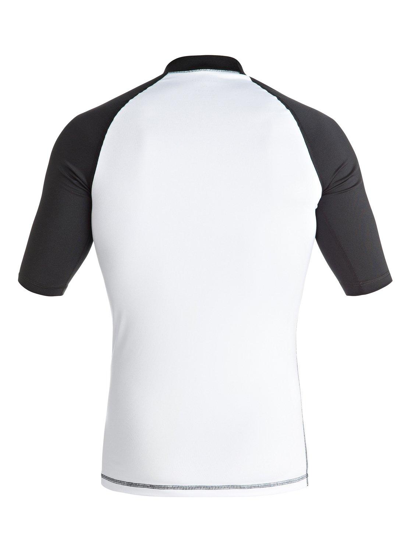 Lycra Quiksilver Active - Short Sleeve Rash Vest (White / Black) Ss17