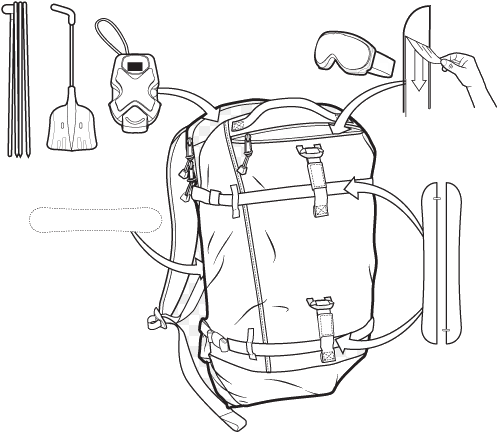 Plecak Burton Splitboard 30l Pack (Real Red Trap)