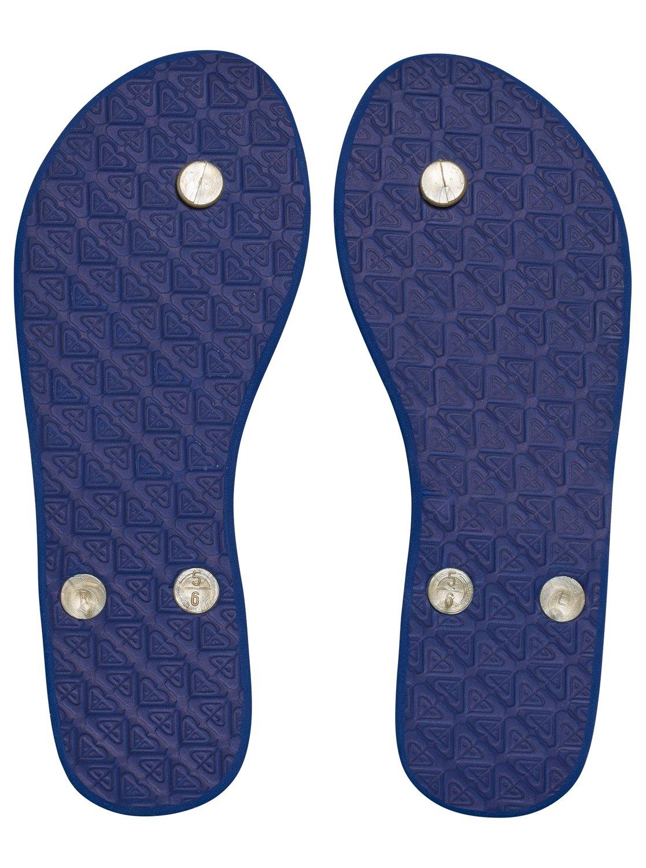 Japonki Damskie Roxy Portofino (Blue / White Print)