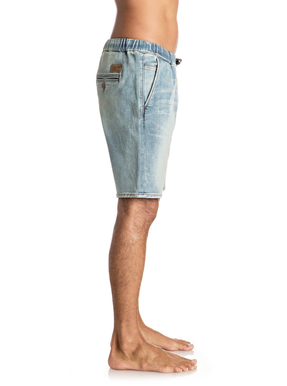 Szorty Quiksilver Fonic Blur - Slim Fit Denim Jogger Shorts (Blur) Ss17