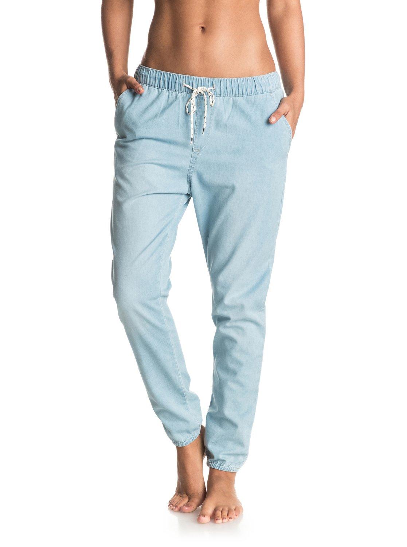 Spodnie Damskie Roxy Easy Beach Denim Joggers (Light Blue)