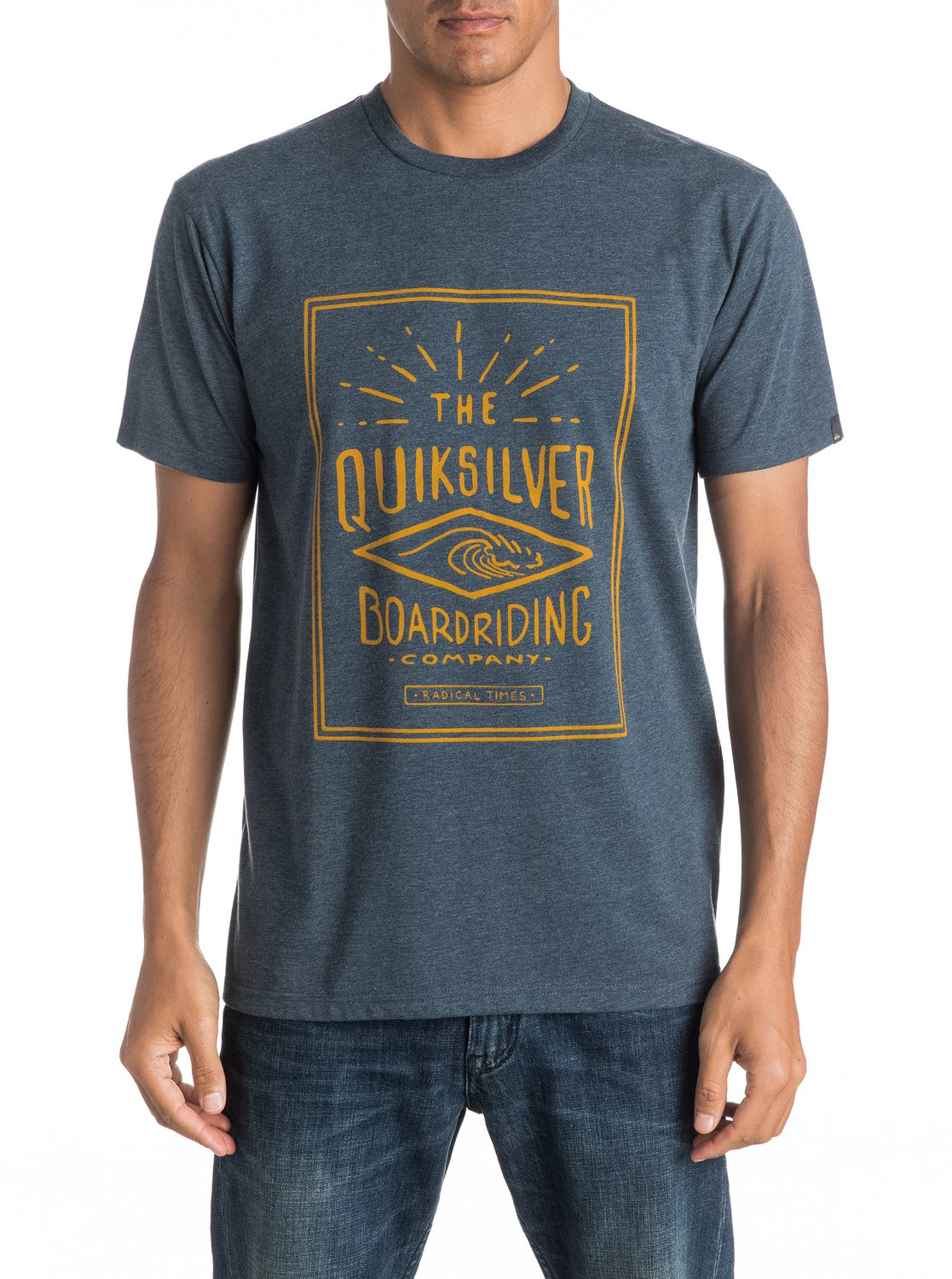 Koszulka Quiksilver Double Lines (Dark Denim Heather) Ss17