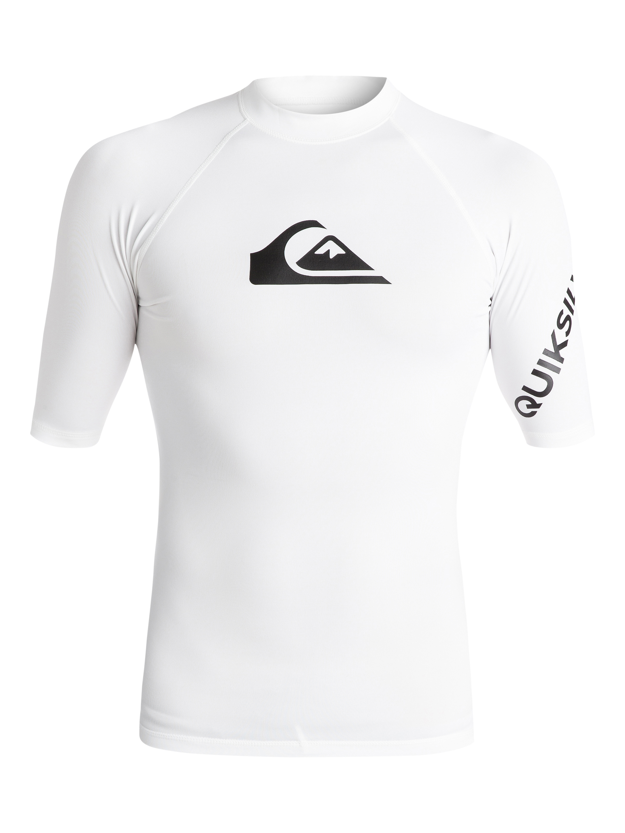 Lycra Quiksilver All Time Short Sleeve Rushguard (White) Ss18