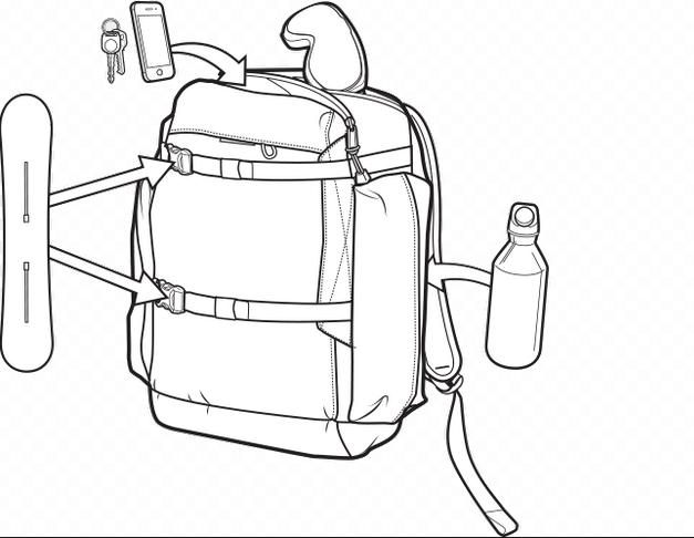 Plecak Burton Youth Riders Pack 17l (Pop Camo)