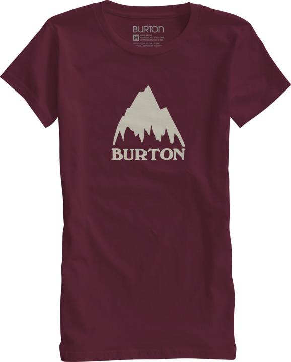 Koszulka Damska Mountain Logo (Oxblood)