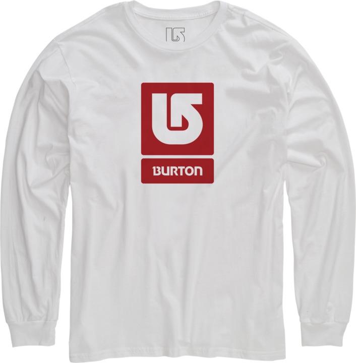 Longsleeve Burton Logo Vertical Fill (Stout White)