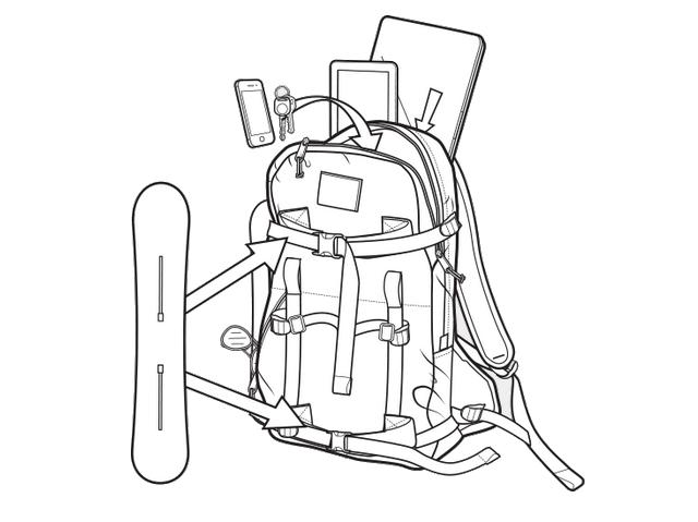 Plecak Burton Provision Pack (Green Lake Triple Ripstop)