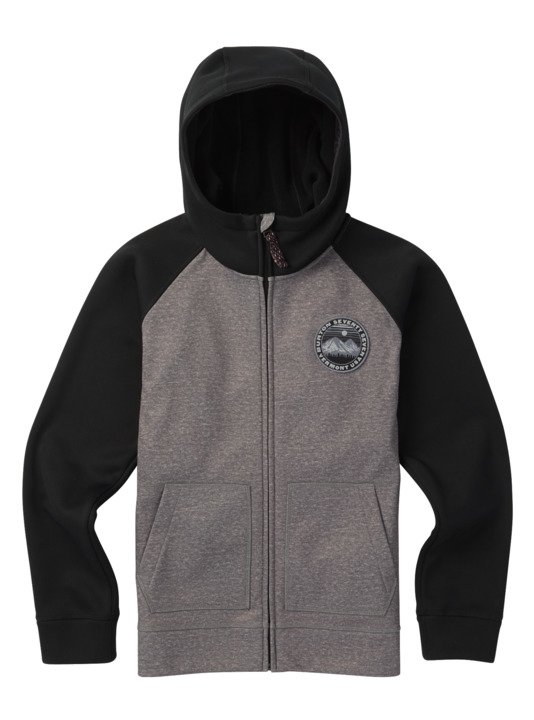 Dziecięca Bluza Aktywna Burton Boys Crown Bonded Zip (Monument Heather / True Black) W19