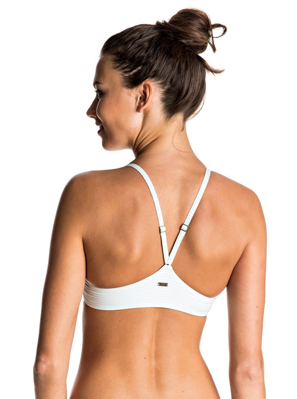 Góra Od Bikini Roxy Delicate Touch Athletic Tri Bikini Top (Sirena Stripe Combo Bleached) Ss17