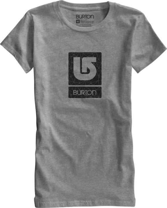Koszulka Damska Burton Logo Vertical (Heather Grey)