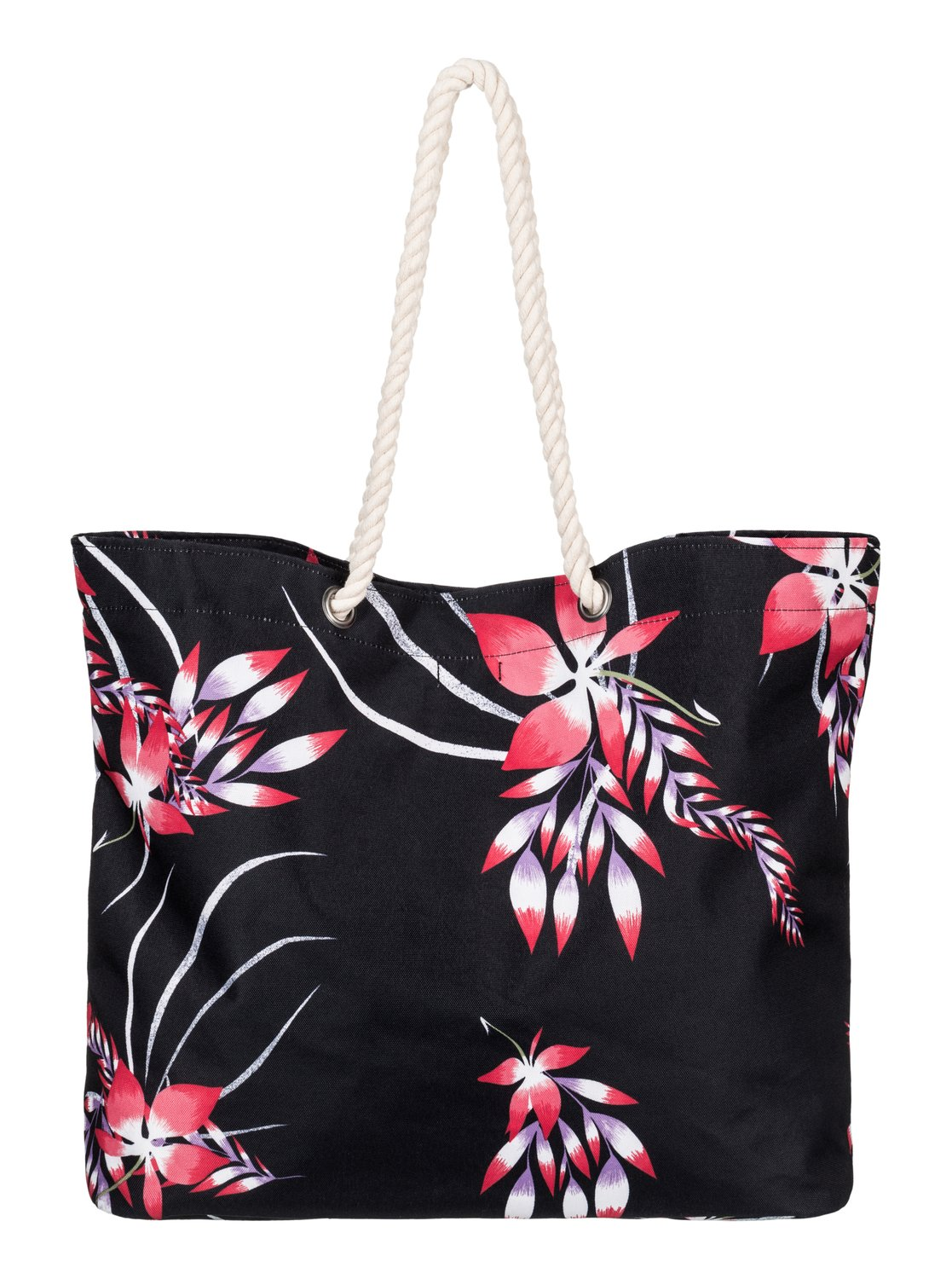 Torba Roxy Printed Tropical Vibe - Beach Bag (Anthracite Mistery Floral)