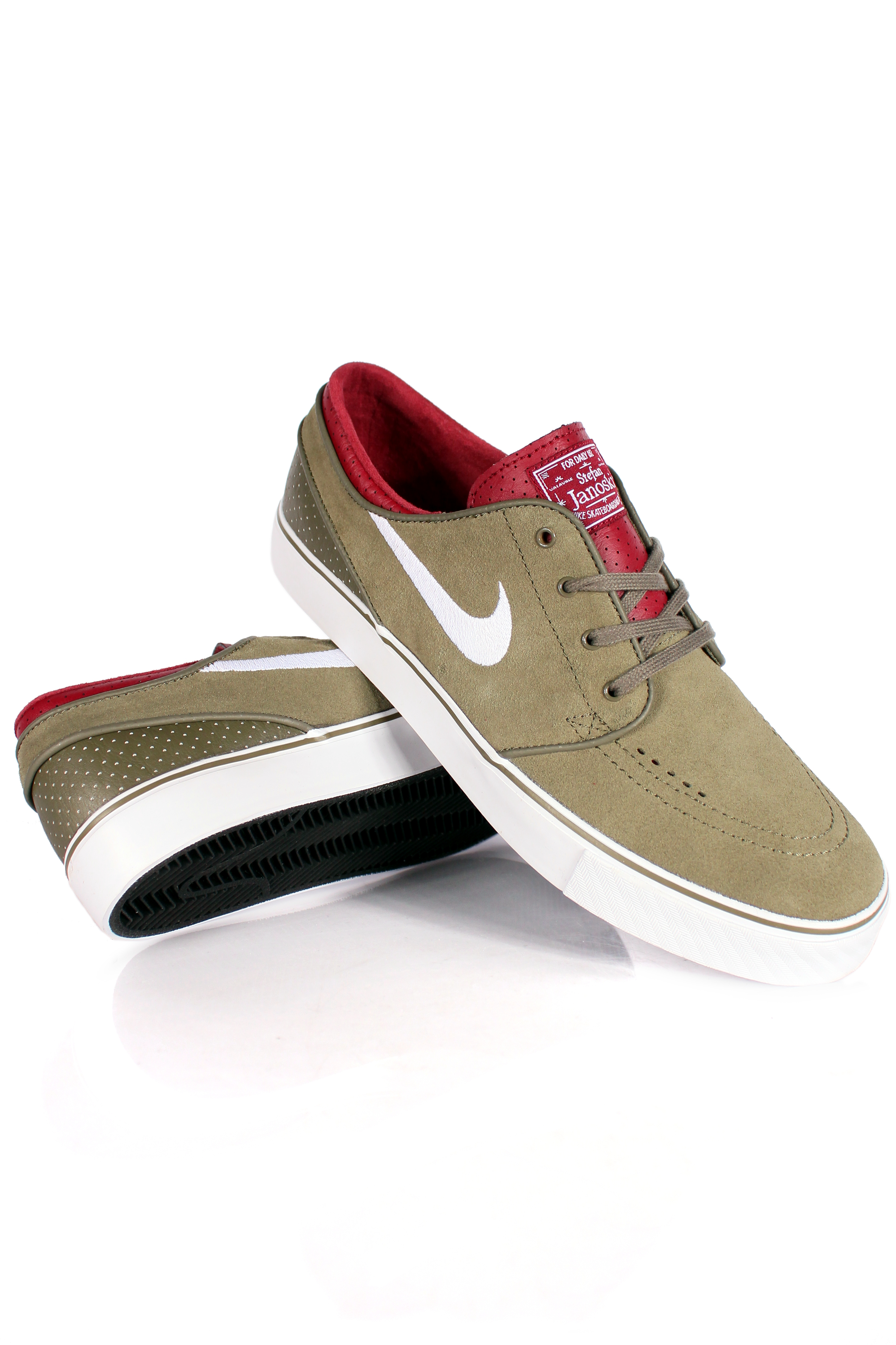 Buty Nike Sb Stefan Janoski Low (Olive/Red/White)