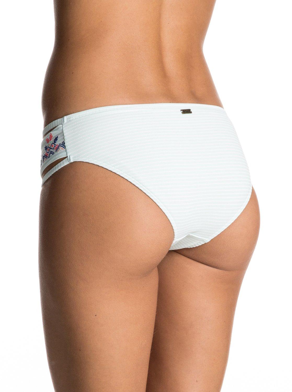 Dół Od Bikini Roxy Delicate Touch 70's Bikini Bottoms (Sirena Stripe Combo Bleached) Ss17