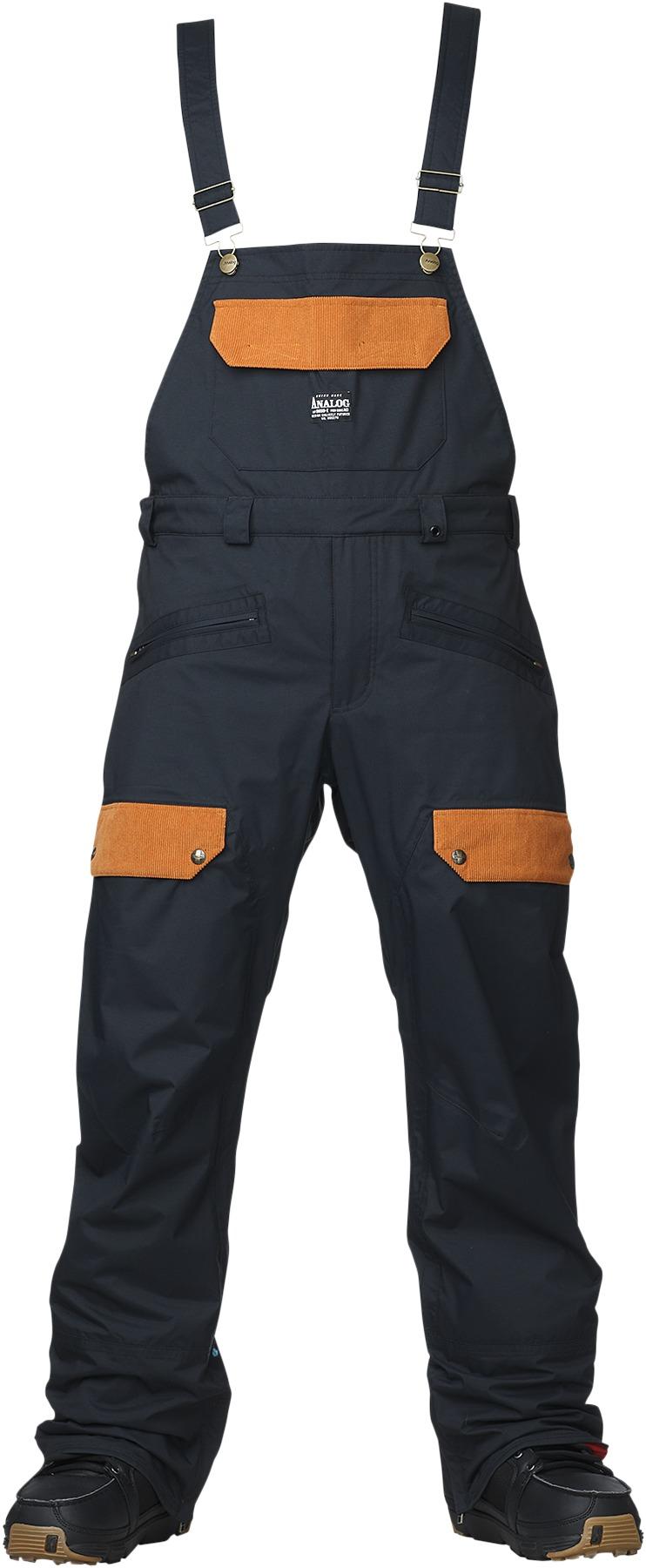 Spodnie Snowboardowe Analog Alder Bib (True Black)