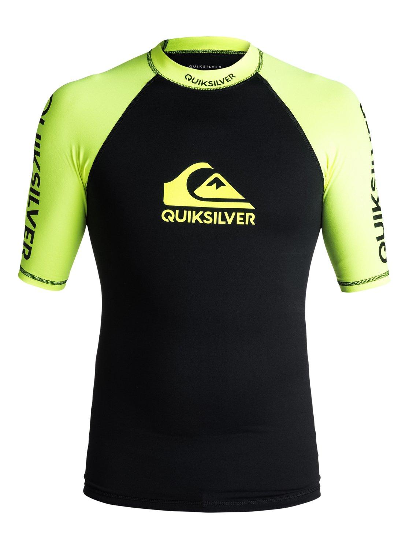 Lycra Quiksilver On Tour Shortsleeve Rashguard (Safety Yellow / Black) Ss18
