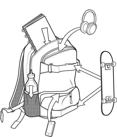 Plecak Burton Treble Yell Pack (True Black) Ss18