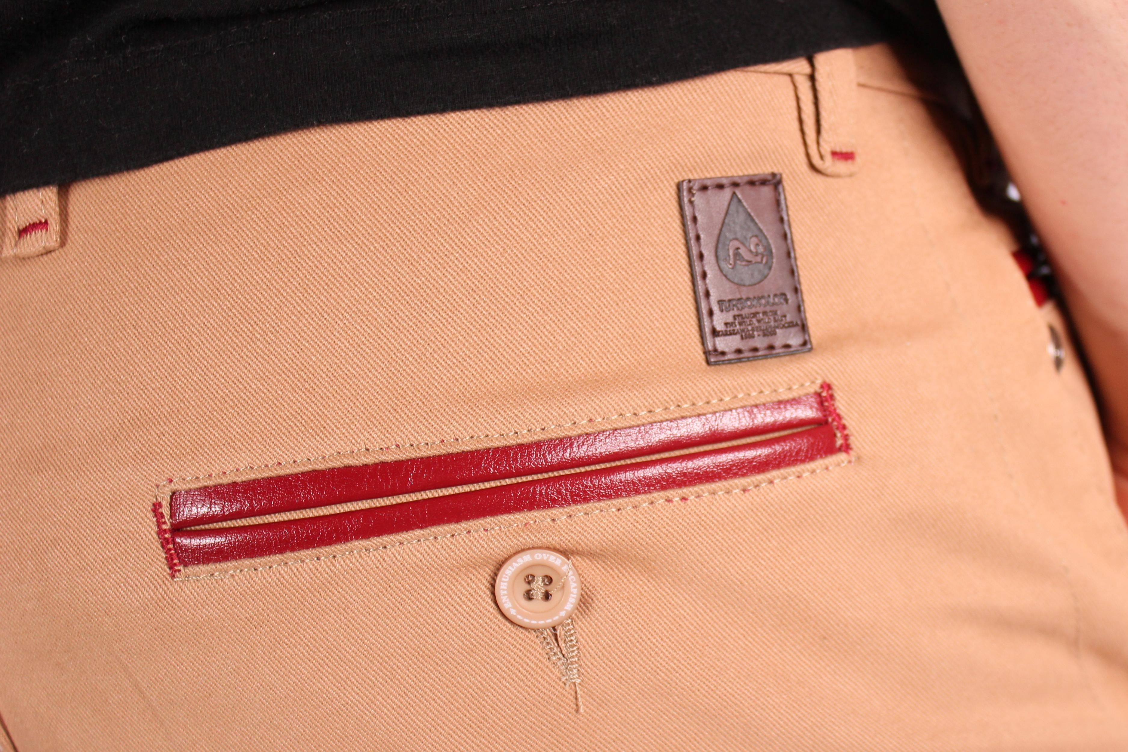 Spodnie Turbokolor Chinos Slimfit (Khaki)