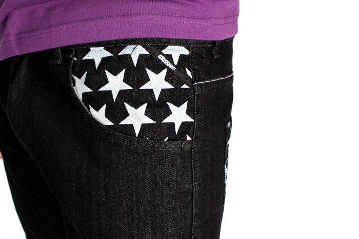Spodnie Mass Denim Flag (Black)