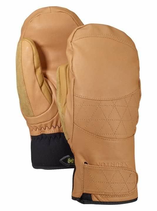 Damskie Rękawice Snowboardowe Burton Gondy Gore Leather Mitt (Camel) W19