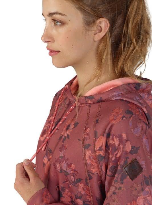 Damska Bluza Aktywna Burton Crown Bonded (Marsala Wildflowers) Ss18