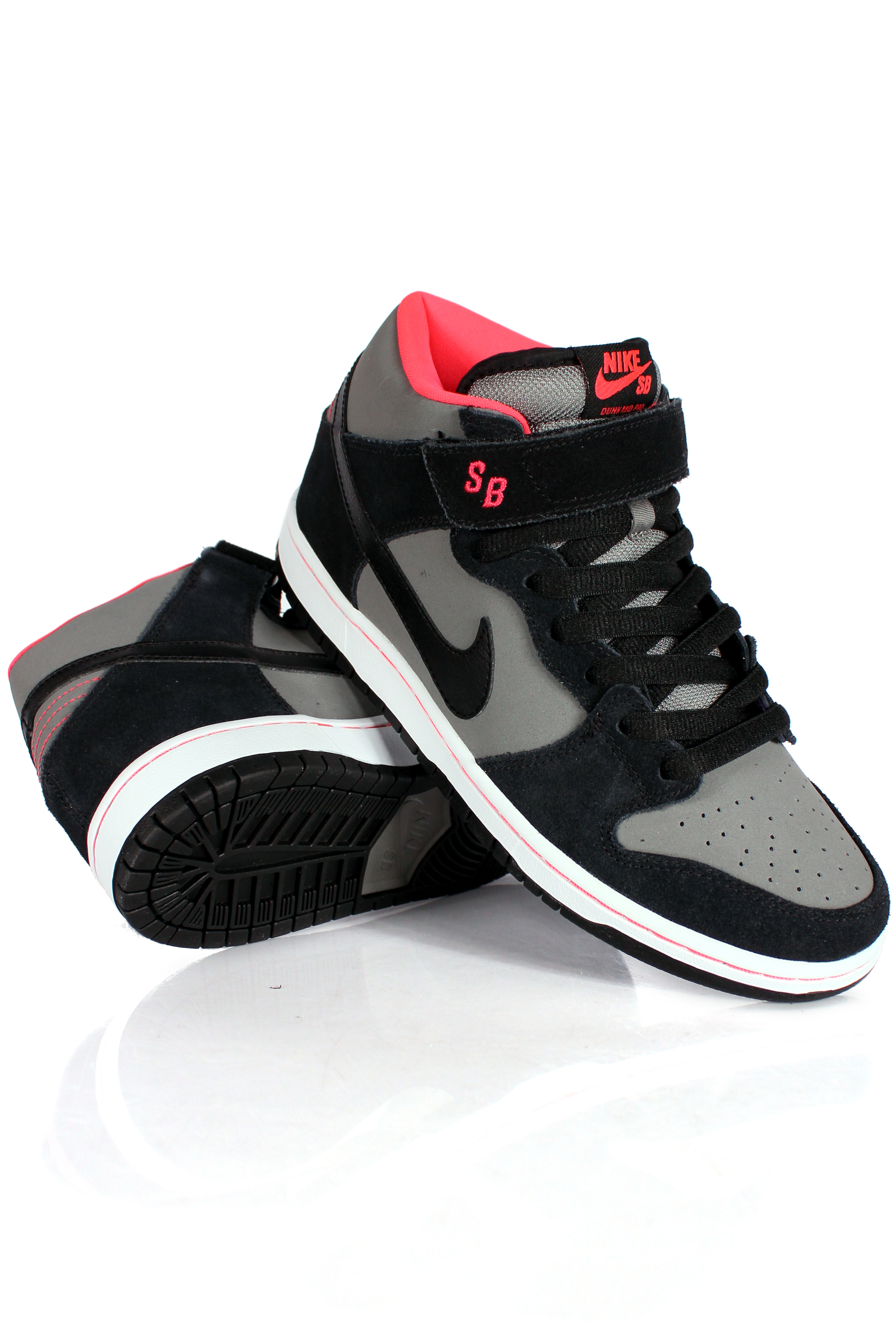 Buty Nike Dunk Mid Pro ( Black/Base Grey/Red)