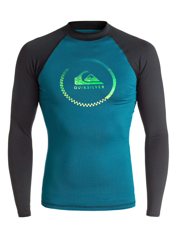 Lycra Quiksilver Active - Long Sleeve Rash Vest (Maroccan Blue / Black) Ss17