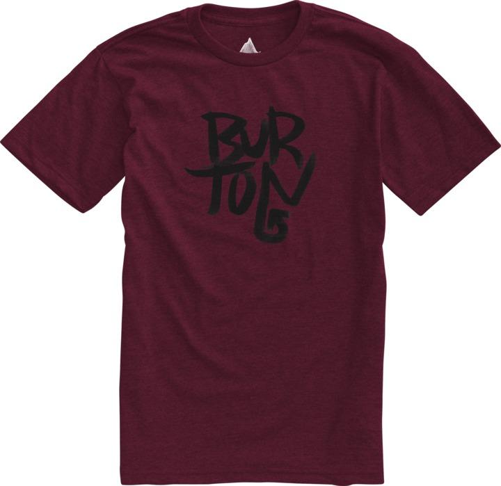 Koszulka Burton Stacked Slim (Heather Oxblood)