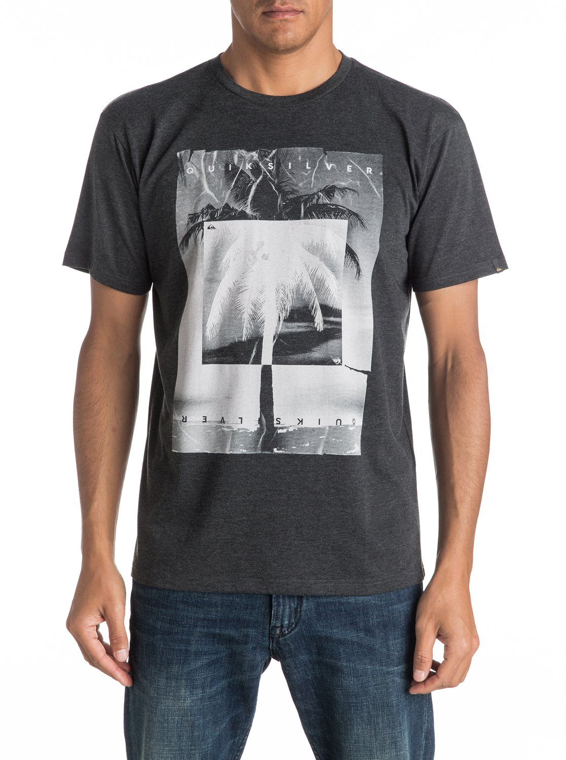 Koszulka Quiksilver Inverted (Charcoal Heather) Ss17