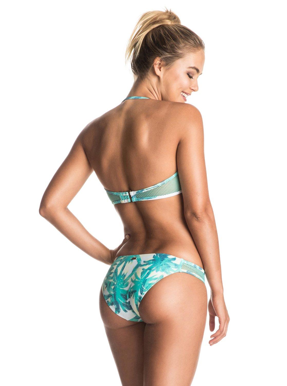 Bikini Roxy Ready Made - Bandeau Bikini Set (Marshmallow Washed Palm) Ss17