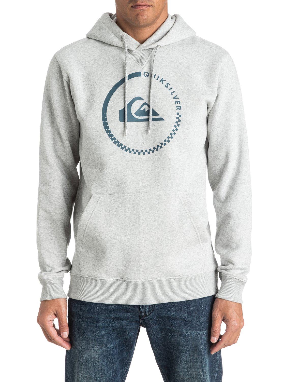 Bluza Quiksilver Big Logo Hoodie (Light Grey Heather) Ss17