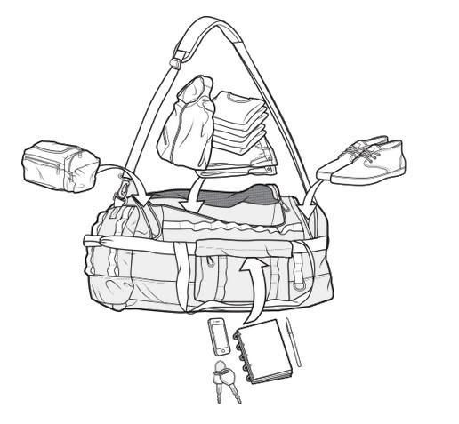 Torba Performer 50l (Cove Rip Tarp)