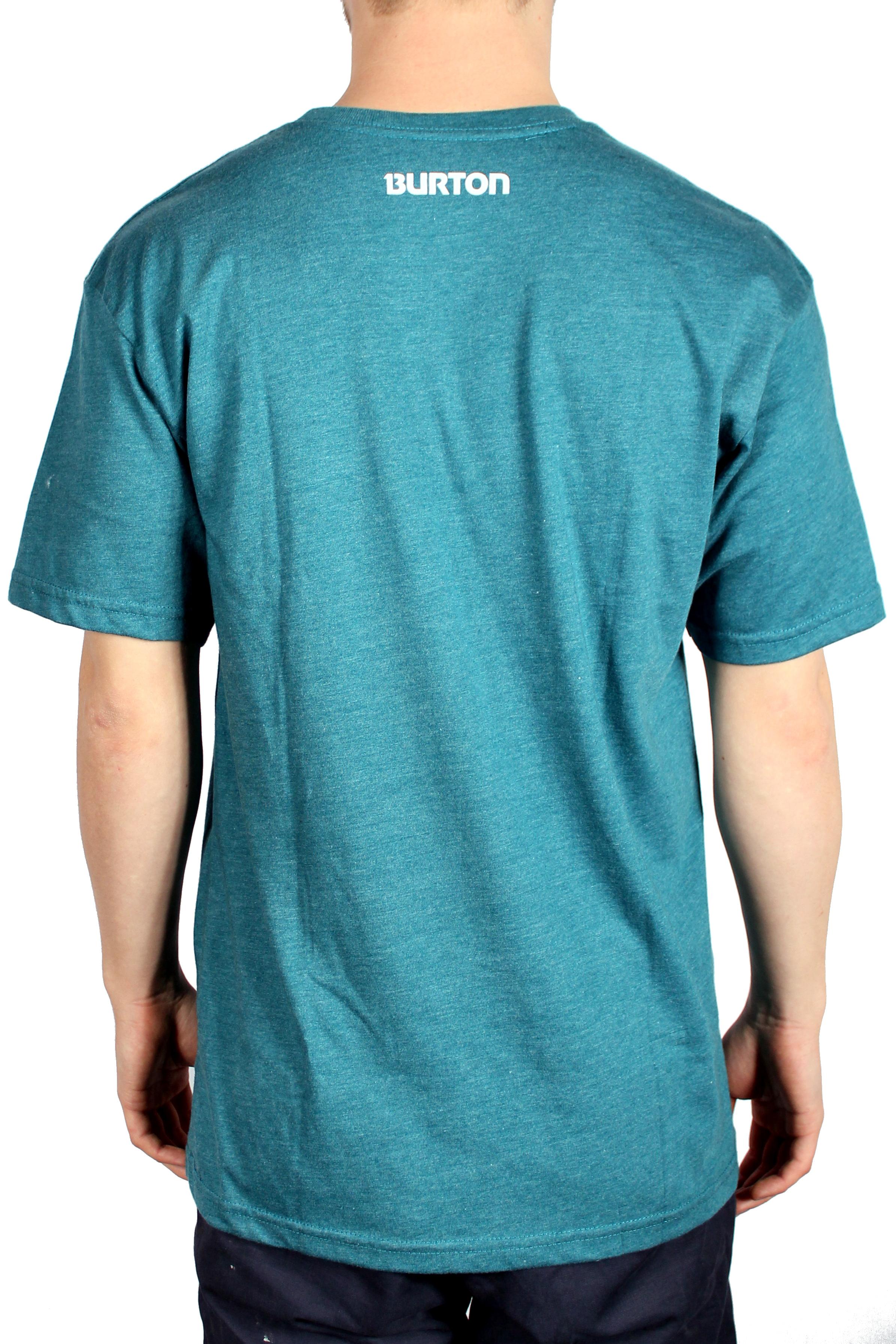 Koszulka Burton Logo Vertical (Heather Cerulean)