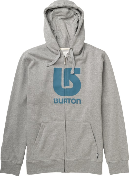 Bluza Burton Logo Fz Vertical (Heather Grey)