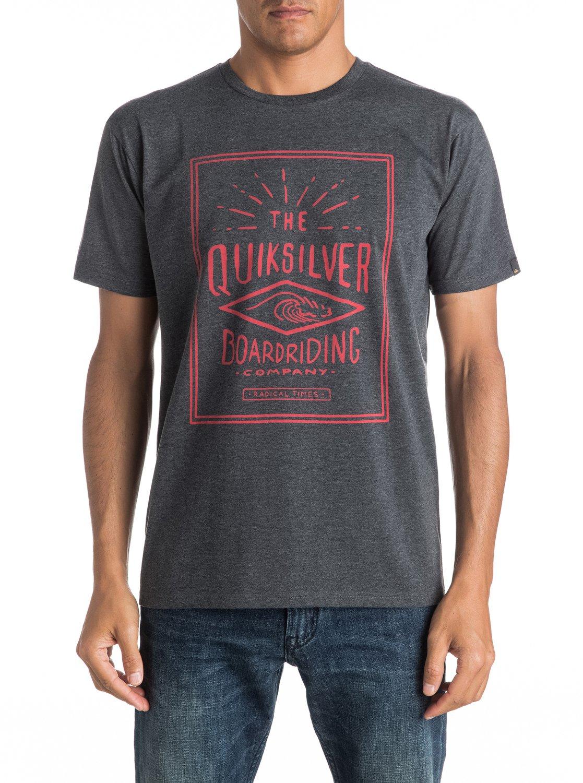 Koszulka Quiksilver Double Lines (Charcoal Heather) Ss17