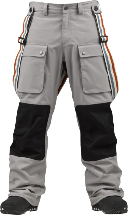 Spodnie Snowboardowe Burton Heritage Suspender (Frost/ True Black)