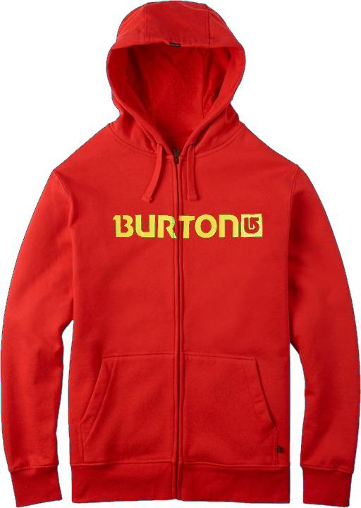 Bluza Burton Logo Horizontal Full-zip (Fiery Red)
