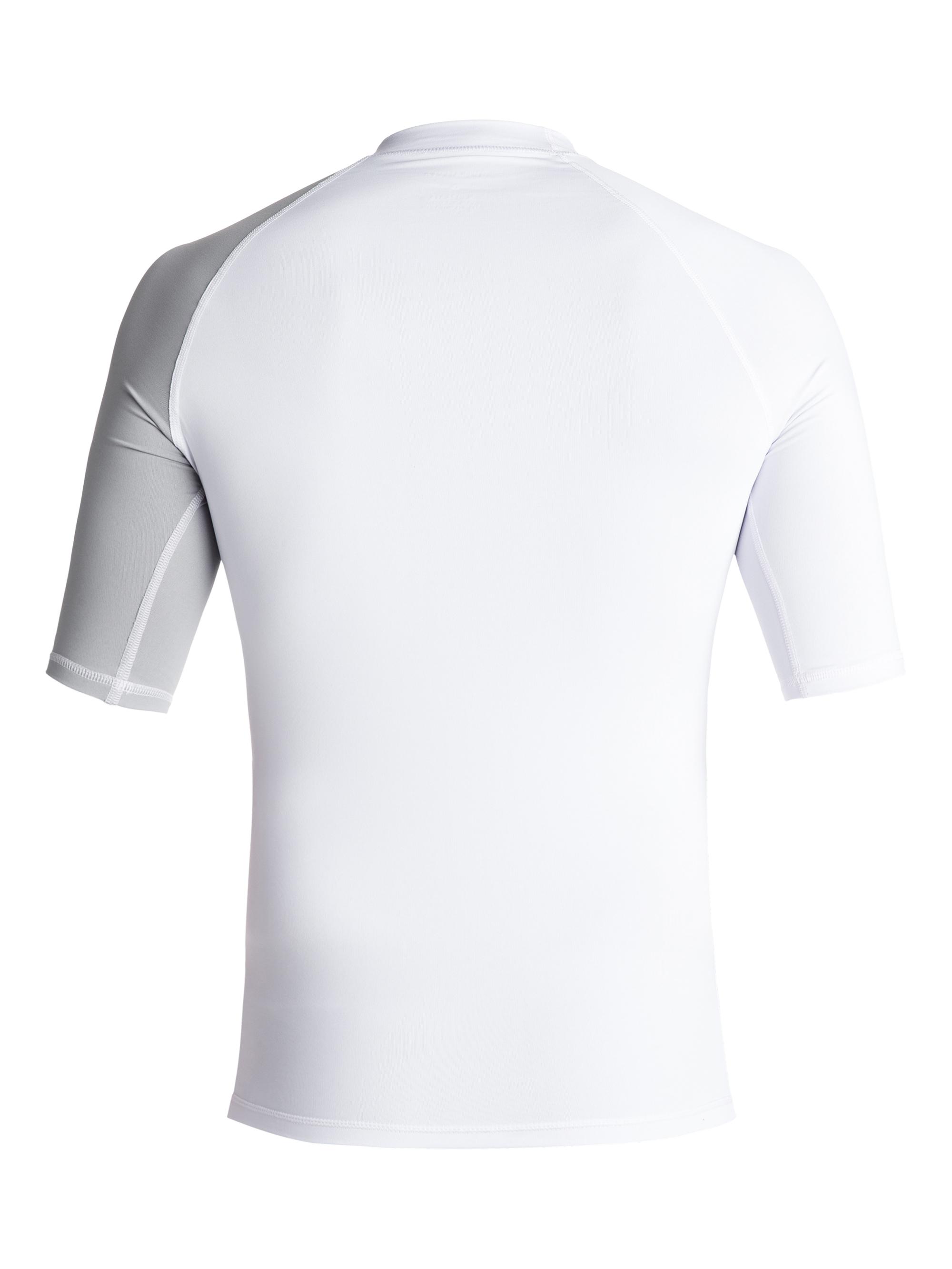 Lycra Quiksilver Active Shortsleeve Rashguard (White / Sleet) Ss18