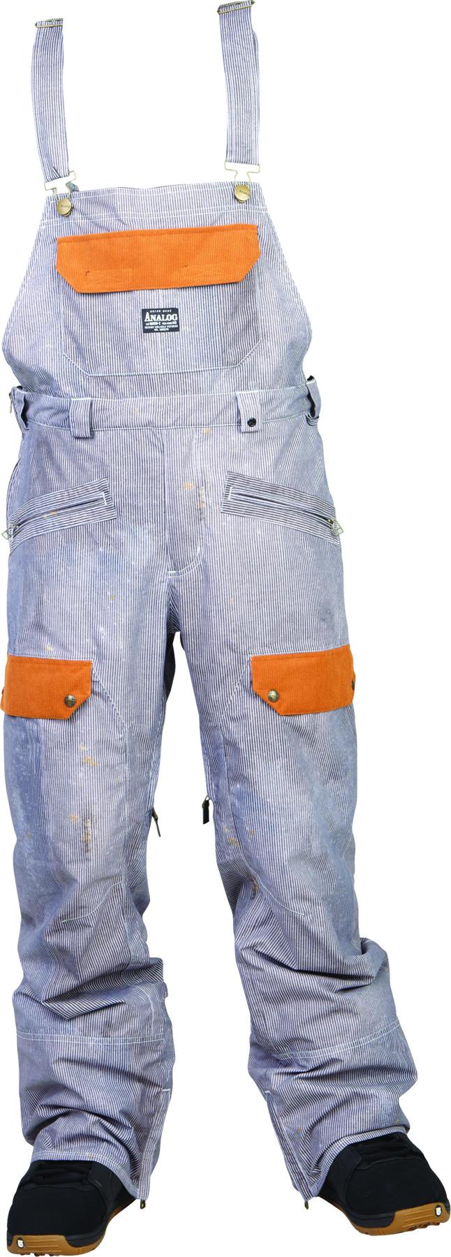 Spodnie Snowboardowe Analog Alder Bib (Hickory Stripe)