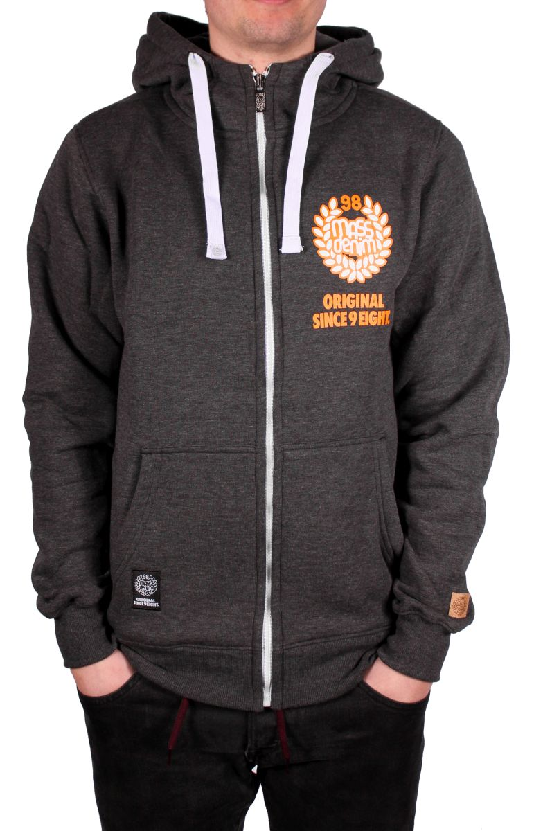 Bluza Massdnm Base Zip Hoody (Dark Heather Grey)