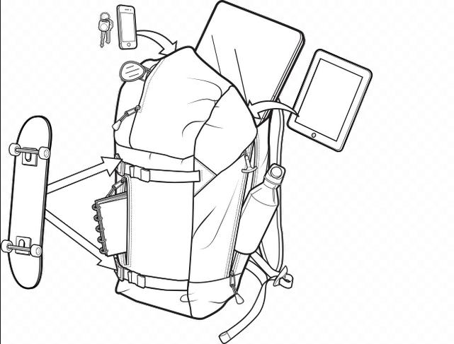 Plecak Burton Lumen Pack (Gray Heather Diamond)