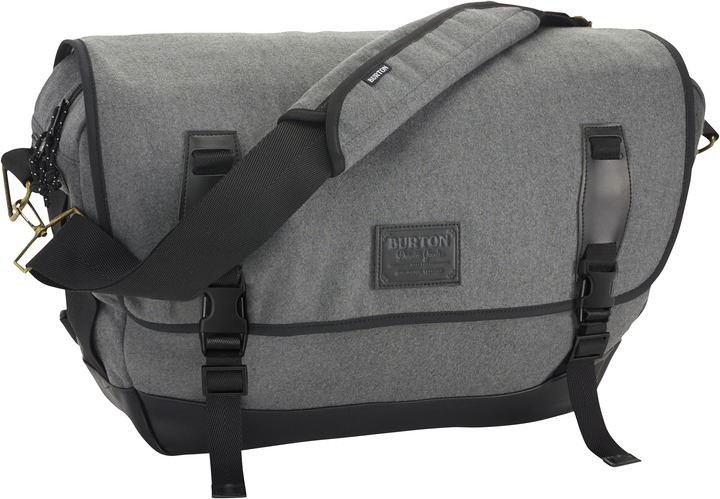 Torba Burton Flint Messenger (Grey Wool Heather)