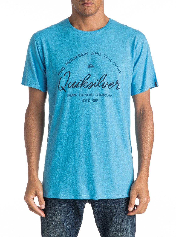 Koszulka Quiksilver Slub Hero Bay (Bonnie Blue) Ss17