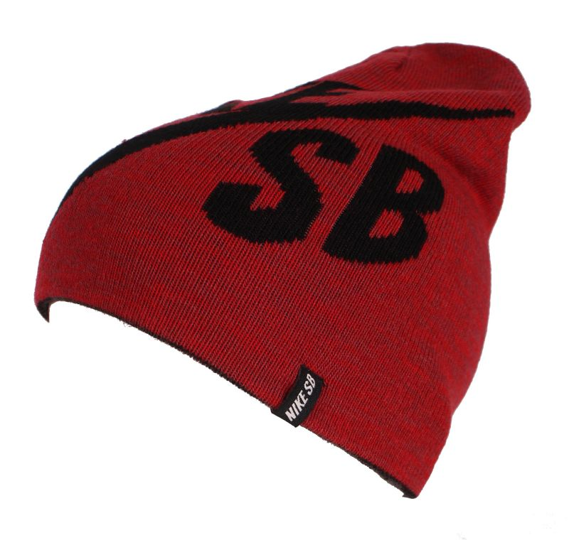 Czapka Nike Sb Wrap Beanie (Gym Red/White)