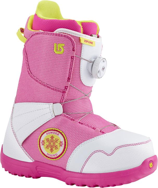 Dziecięce Buty Snowboardowe Zipline Boa (White / Pink)