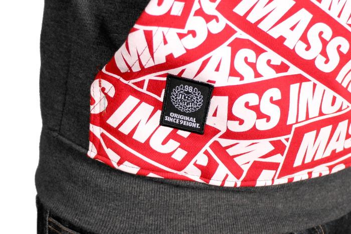 Bluza Massdnm Mosaic Half Zip (Dark Heather Grey)